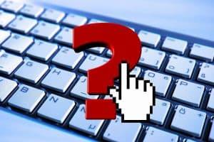 Seviceanfragen mit Tastatur des IT teams