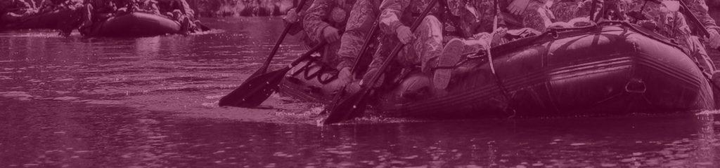 Militärisches Ruderboot