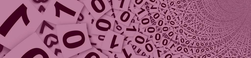 Digitalisierung Nullen und Einsen als Karten