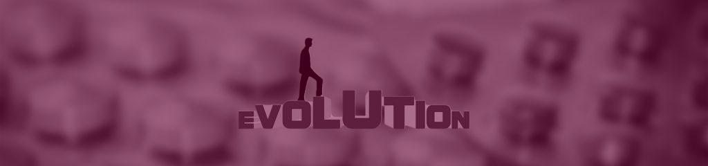 Evolution Schriftzug in der KI
